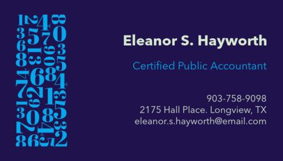 Professional Business Card Maker for Certified Public Accountants 252a