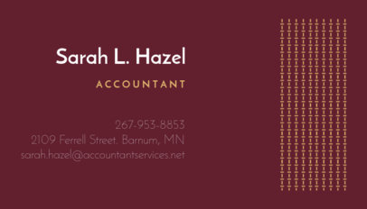 Personalizable Accounting Business Card Maker 252b