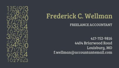 Business Card Design Template for Freelance Accountants 252d