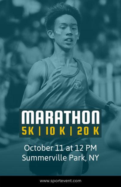 Online Flyer Maker for Sport Events like Running Races 129c