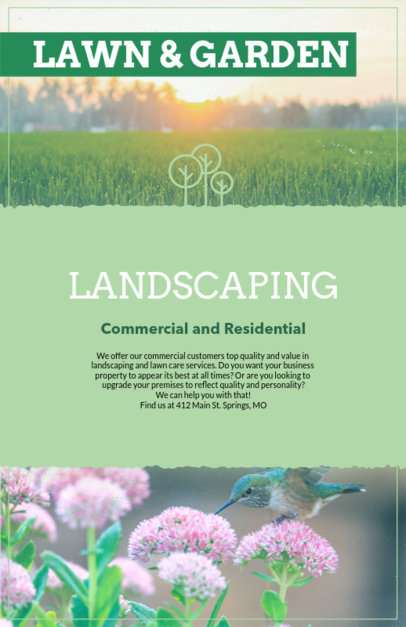 Placeit Lawn Care Flyer Template With Customizable Titles