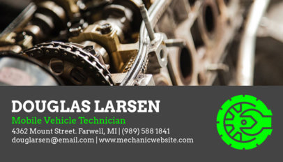 Business Card Maker for an Auto Mechanic 158c-1819
