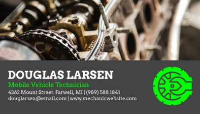 Business Card Maker for an Auto Mechanic 158c-1819