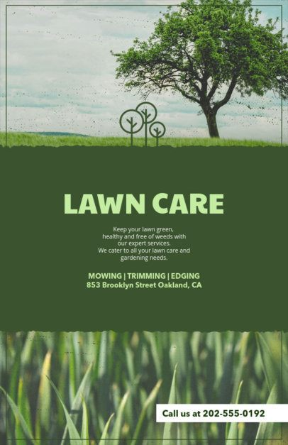 Lawn Care Flyer Template with Customizable Titles 125e