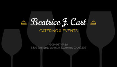 Business Card Maker for Catering and Events 122a