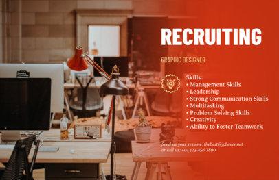 Online Flyer Maker for Job Advertisements