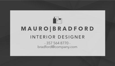 Interior Designer Business Card Template with Minimalist Style 243d-1877
