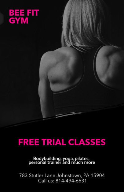 Free Trial Class Flyer Template for Promotions c341