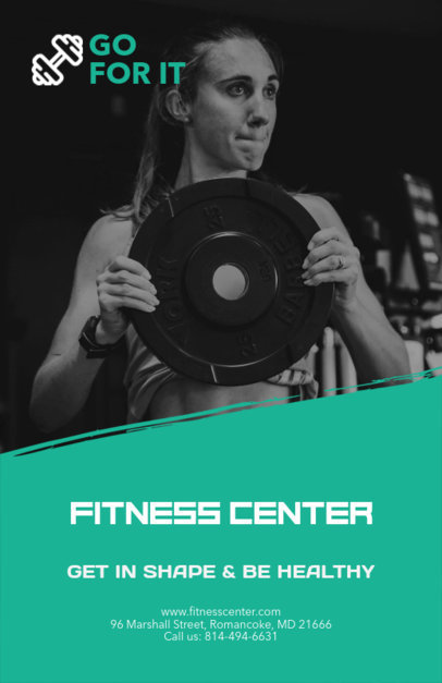 Fitness Center Promotional Flyer Maker d341