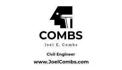 Civil Engineer Business Card Maker Black and White Theme 346b-1877