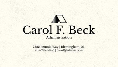 Administration Business Card Maker 305e