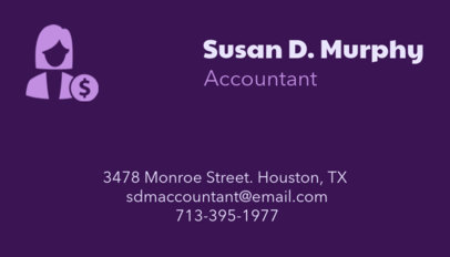 Tax Consultant Business Card Maker 68b