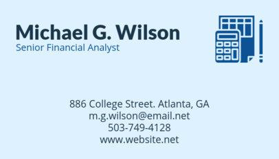 Bookkeeping Business Card Maker 68d