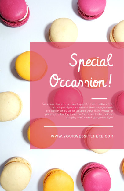 Online Flyer Maker with Macaroon Images Background 281b
