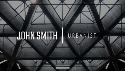 Online Business Card Maker for Urbanists with Geometric Image 303c