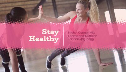 Business Card Maker for Fitness Nutritionists 351b