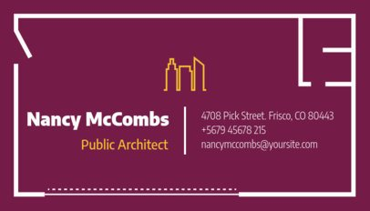 Business Card Maker for Public Architects with Custom Graphics e319