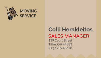 Creative Business Card Template for Moving Companies 325a