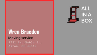 Customizable Business Card Creator for Moving Companies 325d