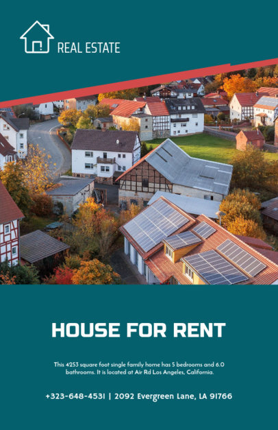 Flyer Maker for Renting Houses in Family Neighborhood 253e