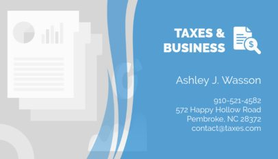 Tax Consultant Business Card Maker 321c