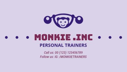 Personal Trainer Business Card Maker for Kids Fitness 334c