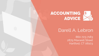 Business Card Maker for an Accounting Advisor 321e