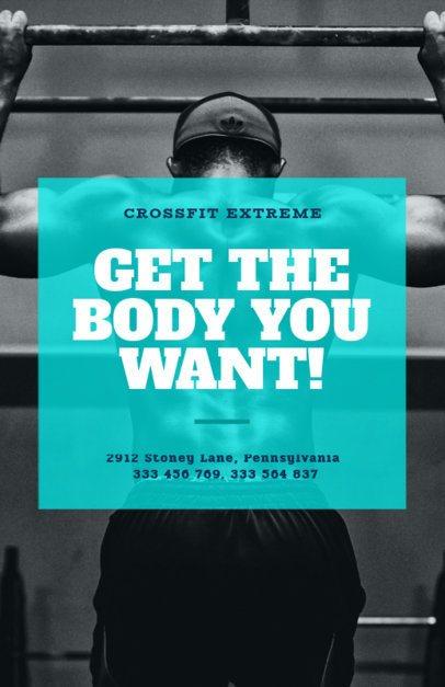 Online Flyer Maker for a Crossfit Gym 352c