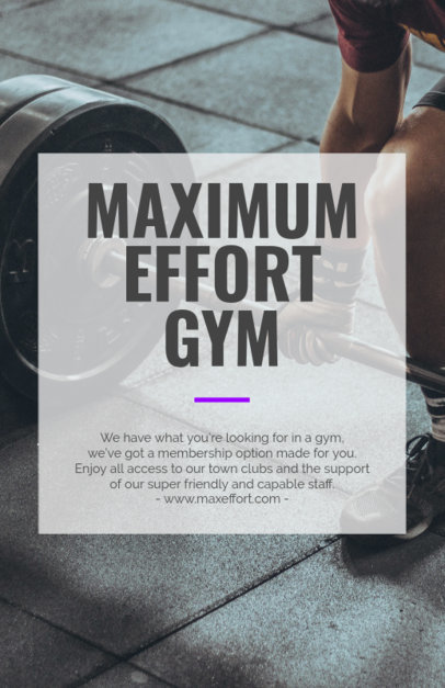 Gym Flyer Maker for Weight Training Classes 352e