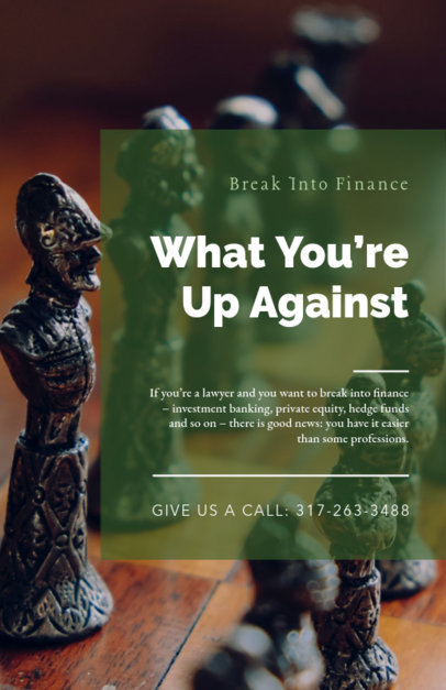 Online Flyer Maker for a Financial Lawyer 335c