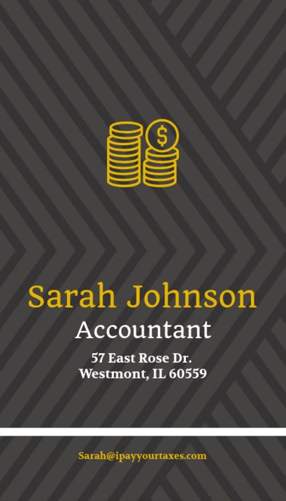 Accountant Business Card Maker with Money Icons 332c