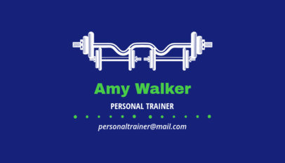 Personal Trainer Business Card Maker 350c
