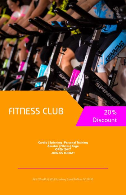 Flyer Maker for Fitness Club Special Discounts 131a