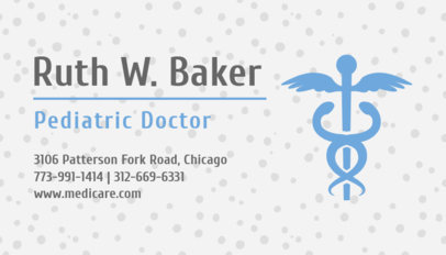 Pediatrician Business Card Maker with Medical Symbol 336b