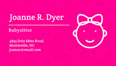 Online Flyer Maker for a Babysitter with Pinata Background 336e