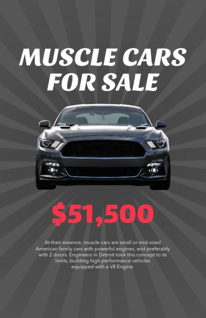 Muscle Cars Online Flyer Maker 277b