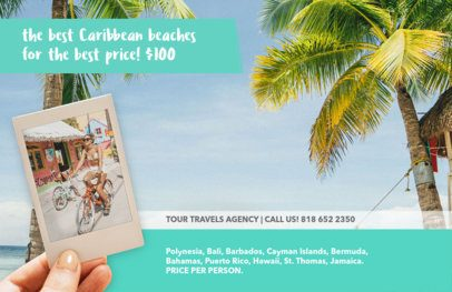 Travel Agent Flyer Maker with Beach Theme 337a