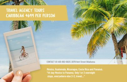 Travel Agency Flyer Template with Beach Theme 337c