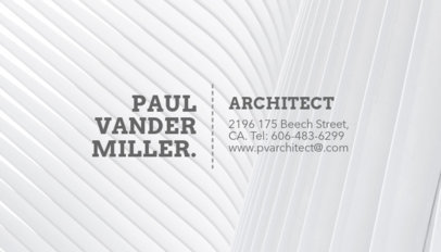 Online Business Card Maker for Architect Firm a316b