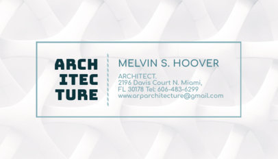 Business Card Maker App for Architects with Outline Frames a316d