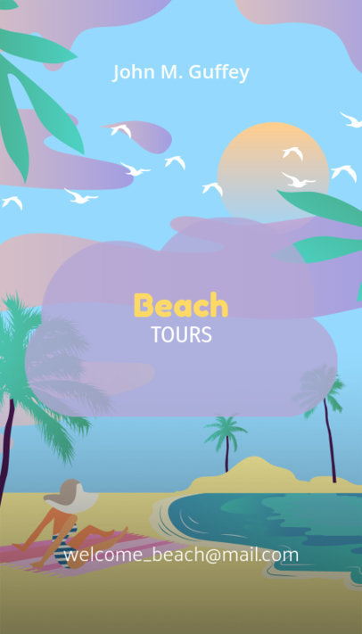 Travel Agency Business Card Maker for Beach Tours 323c