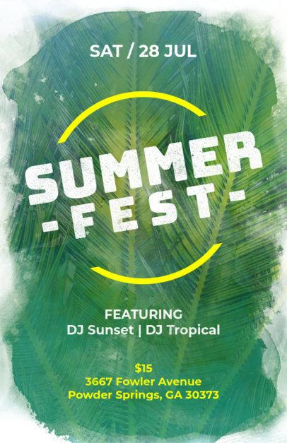 Summer Party Online Flyer Maker 133a