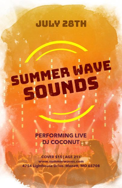 Online Flyer Maker for Summer DJ Parties 133b