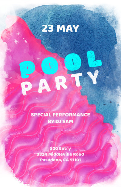 Pool Party Online Flyer Maker 133d