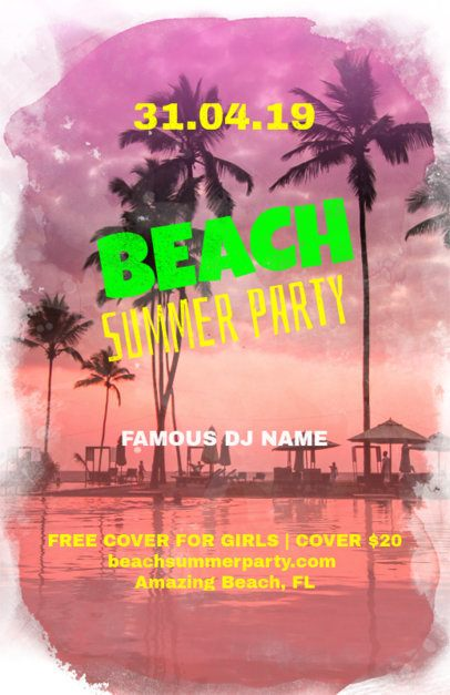 Beach Party Online Flyer Maker 133e