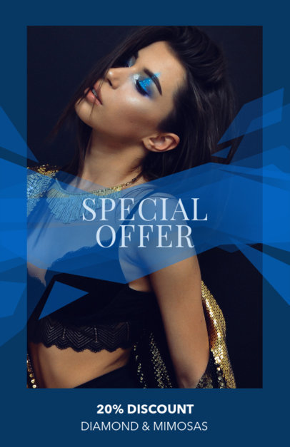 Online Flyer Maker for a Jewelry Ad Blue Theme 322a