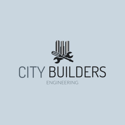 Civil Engineer Corporation Logo Maker 1211b