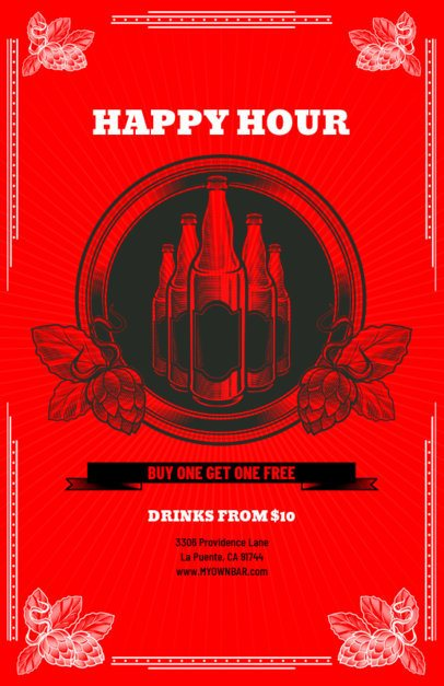 Classy Online Flyer Maker for a Happy Hour 135a