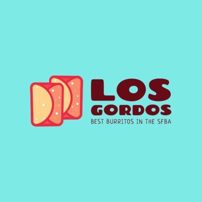 Burritos Restaurant Logo Maker 1226a