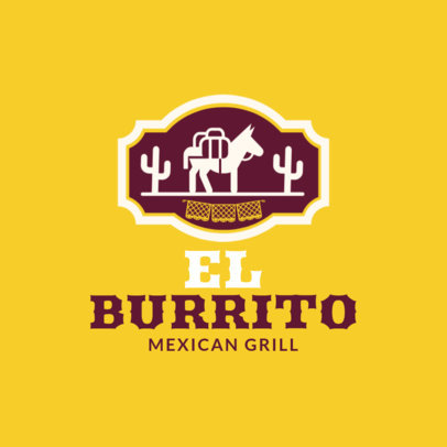 Mexican Food Logo Maker 1226b